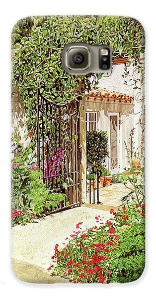 Beverly Hills Galaxy S6 Case - Through The Garden Gate by David Lloyd Glover