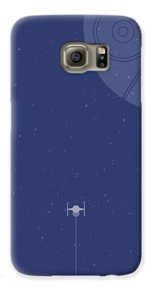 Space Ships Galaxy S6 Case - Tie Fighter Defends The Death Star by Samuel Whitton