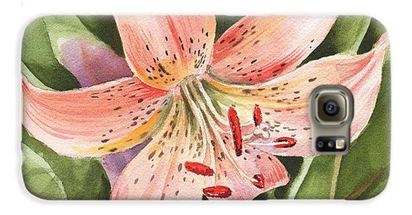 Lily Galaxy S6 Case - Tiger Lily Watercolor By Irina Sztukowski by Irina Sztukowski