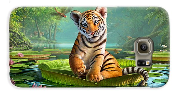 Tiger Lily Galaxy S6 Case by Jerry LoFaro