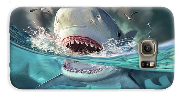 Seagull Galaxy S6 Case - Tiger Sharks by Jerry LoFaro
