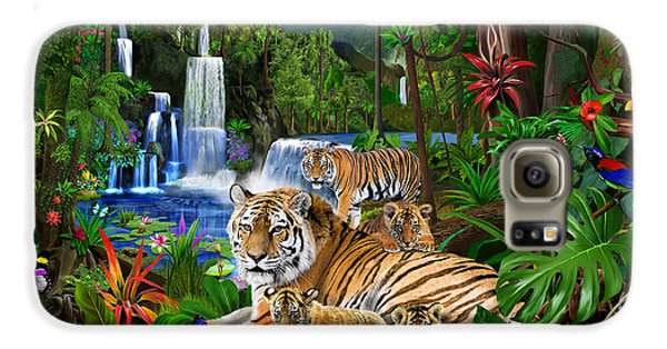 Toucan Galaxy S6 Case - Tigers Of The Forest by Gerald Newton