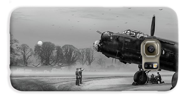 Galaxy S6 Case featuring the photograph Time To Go - Lancasters On Dispersal Bw Version by Gary Eason