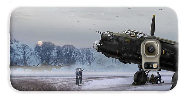Galaxy S6 Case featuring the photograph Time To Go - Lancasters On Dispersal by Gary Eason