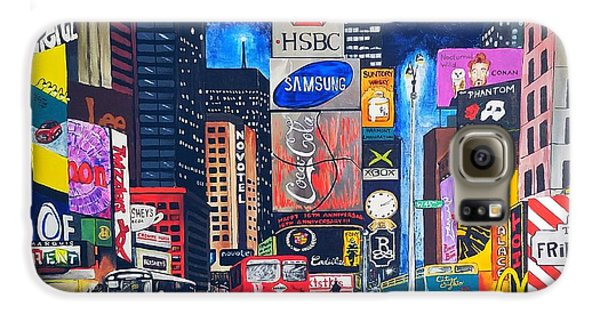 Galaxy S6 Case - Times Square by Autumn Leaves Art