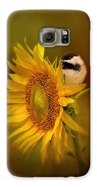 Tiny Surprise Bird Art Galaxy S6 Case by Jai Johnson