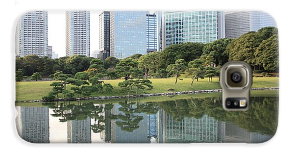 Tokyo Skyline Reflection Galaxy S6 Case by Carol Groenen