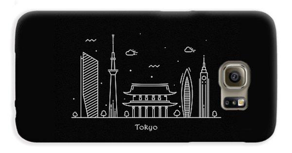 Tokyo Skyline Galaxy S6 Case - Tokyo Skyline Travel Poster by Inspirowl Design