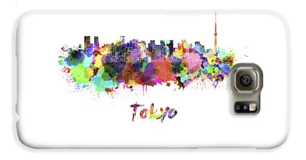 Tokyo V2 Skyline In Watercolor Galaxy S6 Case