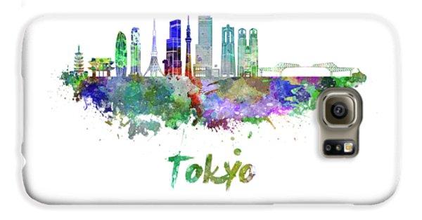 Tokyo Skyline Galaxy S6 Case - Tokyo V3 Skyline In Watercolor by Pablo Romero