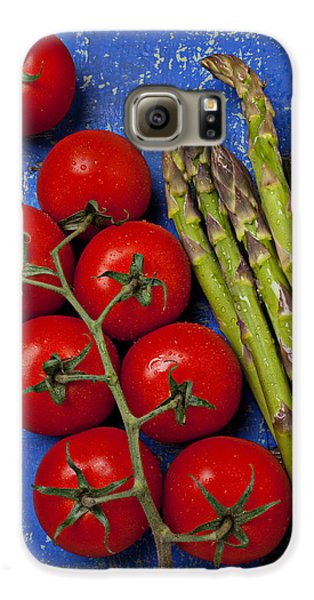 Asparagus Galaxy S6 Case - Tomatoes And Asparagus  by Garry Gay