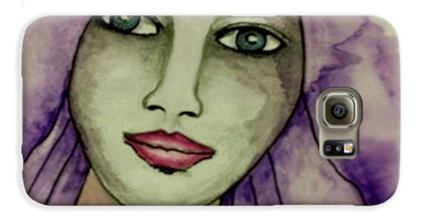 Galaxy S6 Case - Tonights #face #portrait by Robin Mead