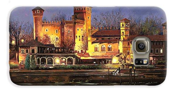 Castle Galaxy S6 Case - Torino-il Borgo Medioevale Di Notte by Guido Borelli