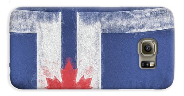 Galaxy S6 Case featuring the digital art Toronto Canada City Flag by JC Findley