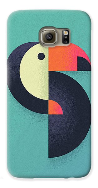 Toucan Geometric Airbrush Effect Galaxy S6 Case by Ivan Krpan