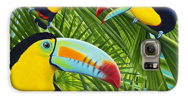 Toucan Galaxy S6 Case - Toucan Threesome by Carolyn Steele