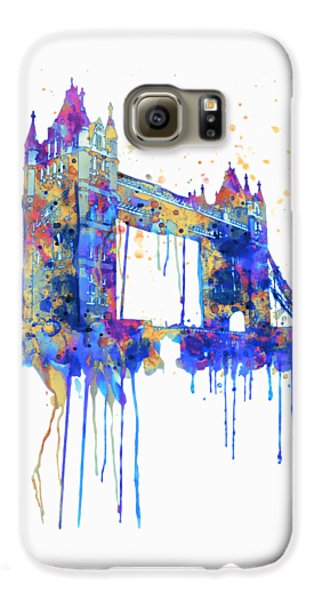 London Galaxy S6 Case - Tower Bridge Watercolor by Marian Voicu