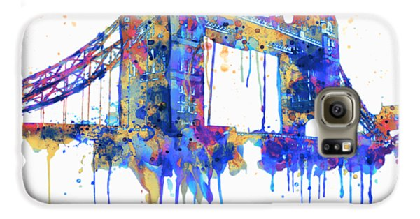 Tower Bridge Watercolor Galaxy S6 Case by Marian Voicu