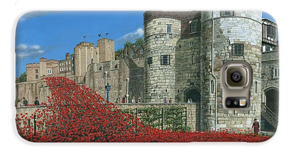 Tower Of London Poppies - Blood Swept Lands And Seas Of Red  Galaxy S6 Case by Richard Harpum