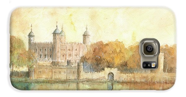 Tower Of London Watercolor Galaxy S6 Case by Juan Bosco