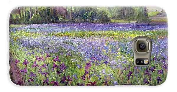 Trackway Past The Iris Field Galaxy S6 Case by Timothy Easton
