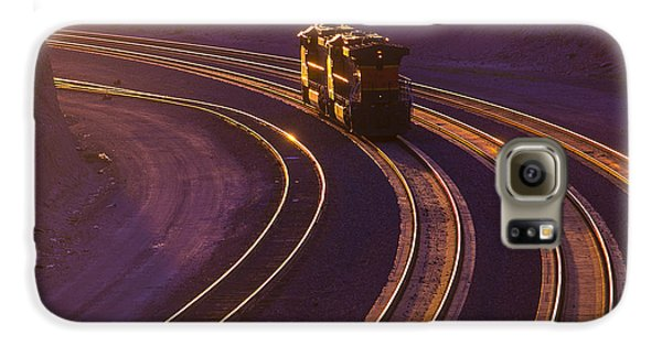Train Galaxy S6 Case - Train At Sunset by Garry Gay