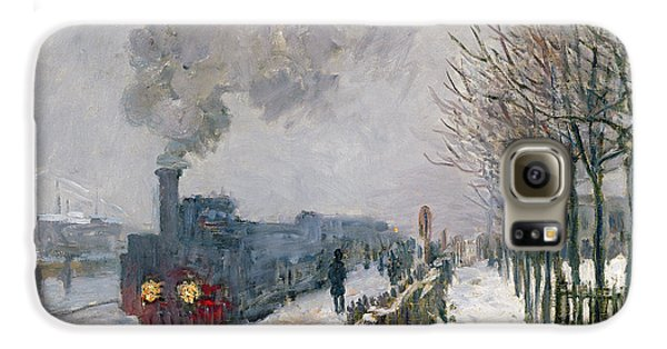 Train Galaxy S6 Case - Train In The Snow Or The Locomotive by Claude Monet
