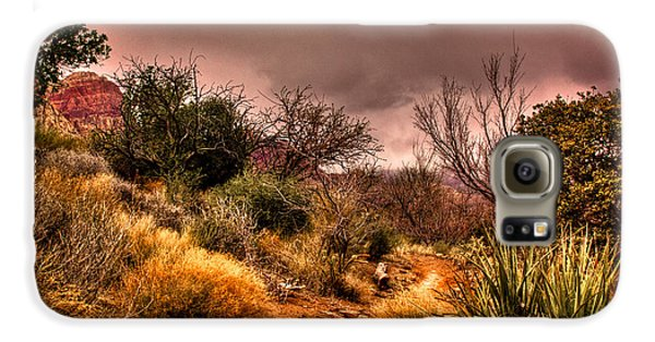 Traveling The Trail At Red Rocks Canyon Galaxy S6 Case