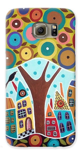 Tree Eight Houses And A Bird Galaxy S6 Case