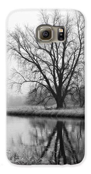 Tree Reflection In The Fox River On A Foggy Day Galaxy S6 Case