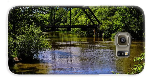 Galaxy S6 Case featuring the photograph Trestle Over River by Mark Myhaver