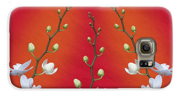 Orchid Galaxy S6 Case - Trifecta Of Orchids by Tom Mc Nemar