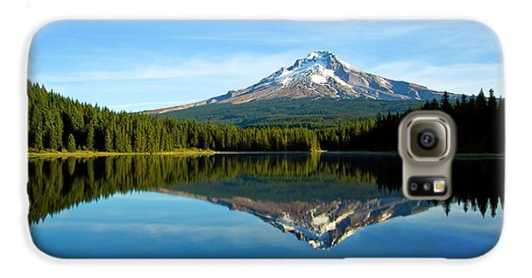 Trillium Lake Mt Hood Fall Galaxy S6 Case