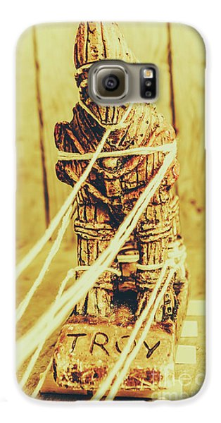 Turkey Galaxy S6 Case - Trojan Horse Wooden Toy Being Pulled By Ropes by Jorgo Photography - Wall Art Gallery