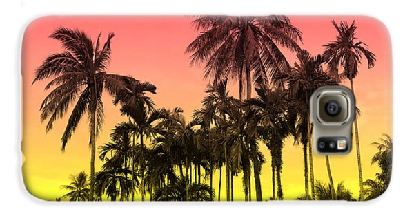 Flowers Galaxy S6 Case - Tropical 9 by Mark Ashkenazi