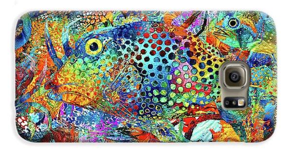 Seahorse Galaxy S6 Case - Tropical Beach Art - Under The Sea - Sharon Cummings by Sharon Cummings