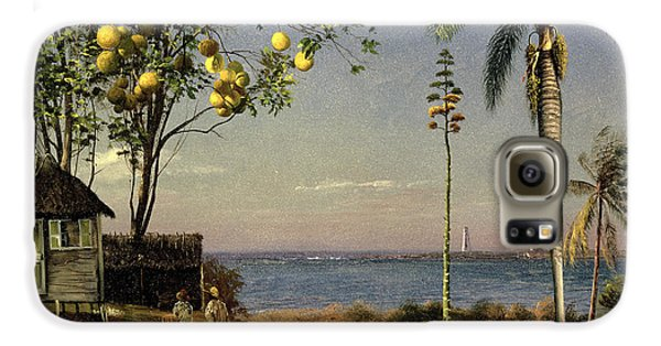 Tropical Scene Galaxy S6 Case by Albert Bierstadt