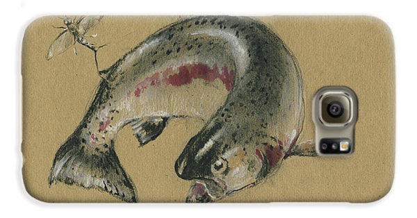 Trout Galaxy S6 Case - Trout Eating by Juan Bosco