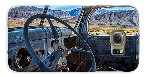 Truck Desert View Galaxy S6 Case by Peter Tellone