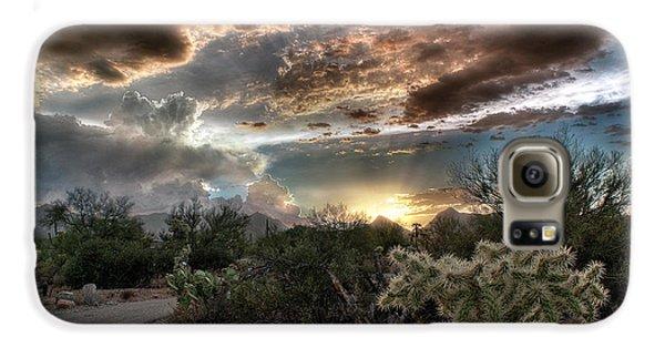 Tucson Mountain Sunset Galaxy S6 Case by Lynn Geoffroy