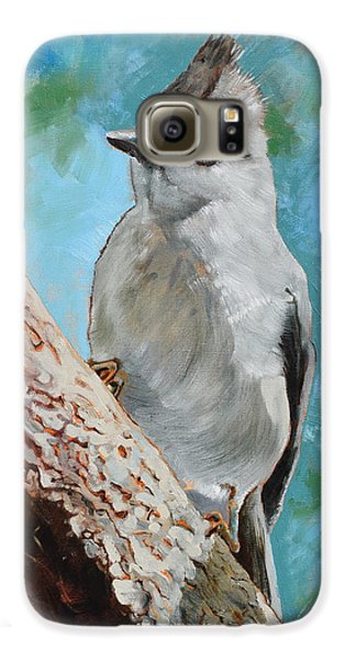 Titmouse Galaxy S6 Case - Tufted Titmouse #1 by Amber Foote