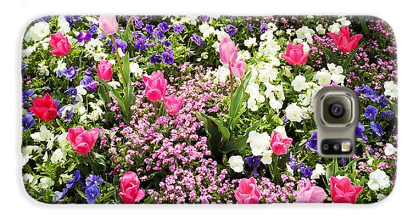 Tulips And Other Colorful Flowers In Spring Galaxy S6 Case