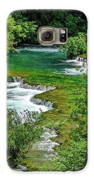 Turqouise Waterfalls Of Skradinski Buk At Krka National Park In Croatia Galaxy S6 Case