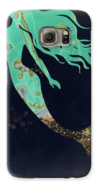 Extinct And Mythical Galaxy S6 Case - Turquoise Mermaid by Mindy Sommers