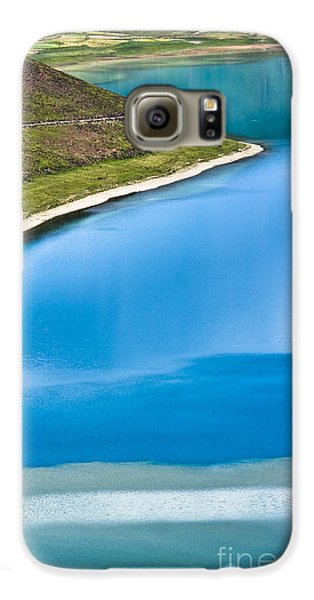 Turquoise Water Galaxy S6 Case by Hitendra SINKAR