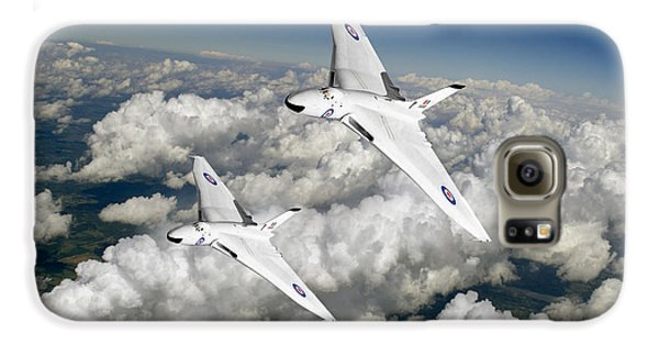 Galaxy S6 Case featuring the photograph Two Avro Vulcan B1 Nuclear Bombers by Gary Eason