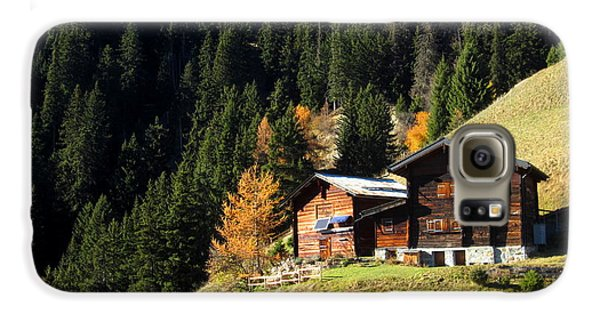Two Chalets On A Mountainside Galaxy S6 Case