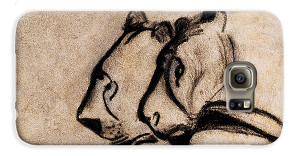 Two Chauvet Cave Lions - Clear Version Galaxy S6 Case