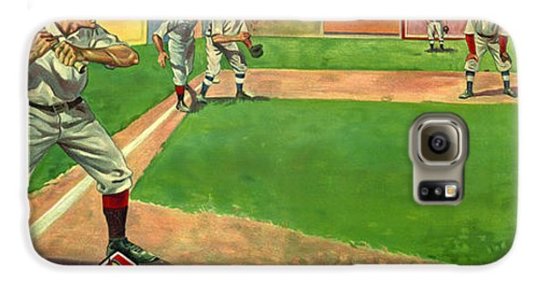 Baseball Players Galaxy S6 Case - Two Men Down by Jon Neidert