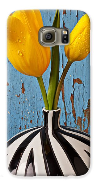 Two Yellow Tulips Galaxy S6 Case by Garry Gay